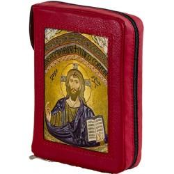 171C - Custodia per liturgia 4 volumi in pelle chiusura zip