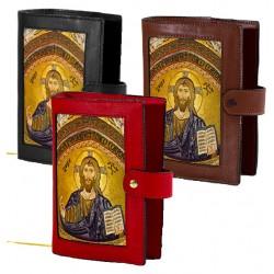 199S - Custodia per liturgia 4 volumi in pelle chiusura bottone