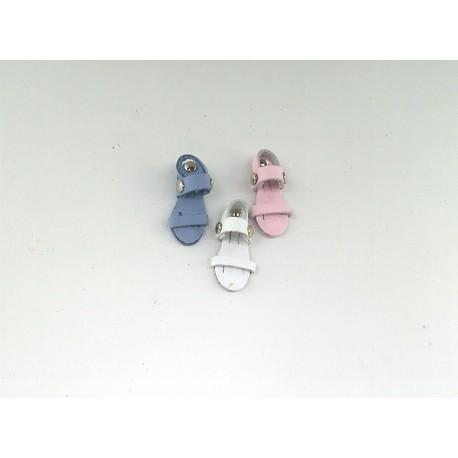 Mini Sandalino Francescano in pelle con calamita - 007KC