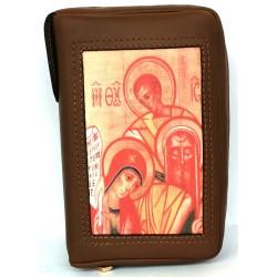 125S - Custodia per liturgia 4 volumi in pelle chiusura con bottone