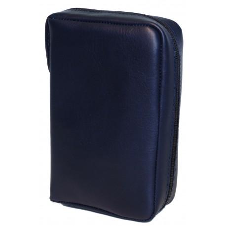 8100 - Custodia per Bibbia tascabile in vera pelle chiusura lampo
