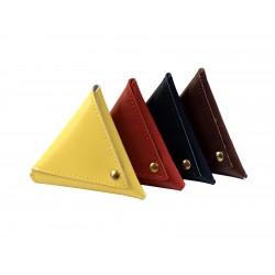 0021 - Portarosari in pelle a forma triangolare