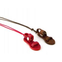07A2 - Ciondolo per collo - sandalino francescano cordoncino cerato
