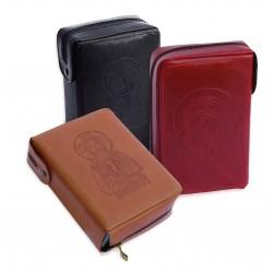 7310 - Custodia per Bibbia San Paolo lavorazione extra in cuoio chiusura zip