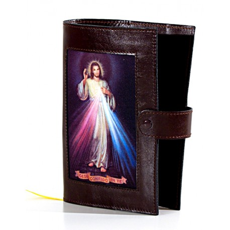 107S - Custodia per liturgia 4 volumi in pelle chiusura con bottone