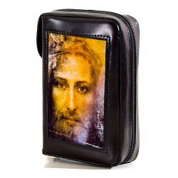 137S - Custodia per liturgia 4 volumi in pelle chiusura con bottone