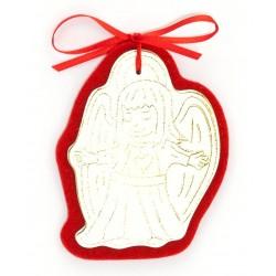 Angioletto di Natale a braccia aperte in pelle e feltro - AN04N