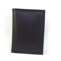 Portacarte di credito in pelle bovina tamponata a mano - 650752/3T