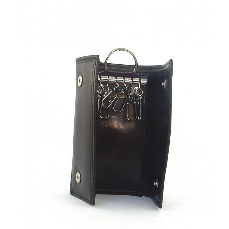 grande vendita d9171 0c034 Portachiavi, portafoglio ganci anello in pelle tamponata ...