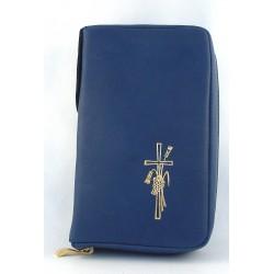 Custodia per Bibbia di  Gerusalemme in vera pelle chiusura zip - 7250