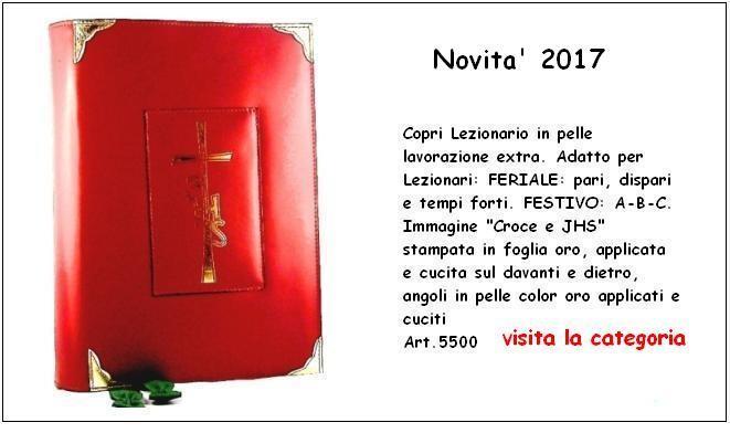 """Copri Lezionario Festivo e Feriale """"Croce e JHS"""" - 5500"""